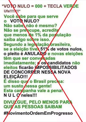 Eleição não é anulada se mais de 51% dos votos forem nulos