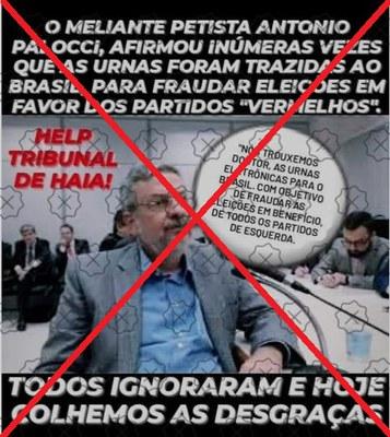 Ex-ministro Antonio Palocci não disse ser possível fraudar urna eletrônica