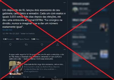 Notícias desmentem fake sobre alteração de votos em Belford Roxo (RJ)