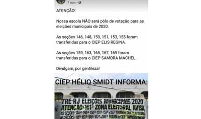 Verdadeiro: zona eleitoral no Conjunto de Favelas da Maré (RJ) foi transferida